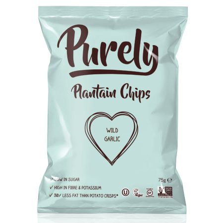 Purely Plantain Chips Wild Garlic 75gr