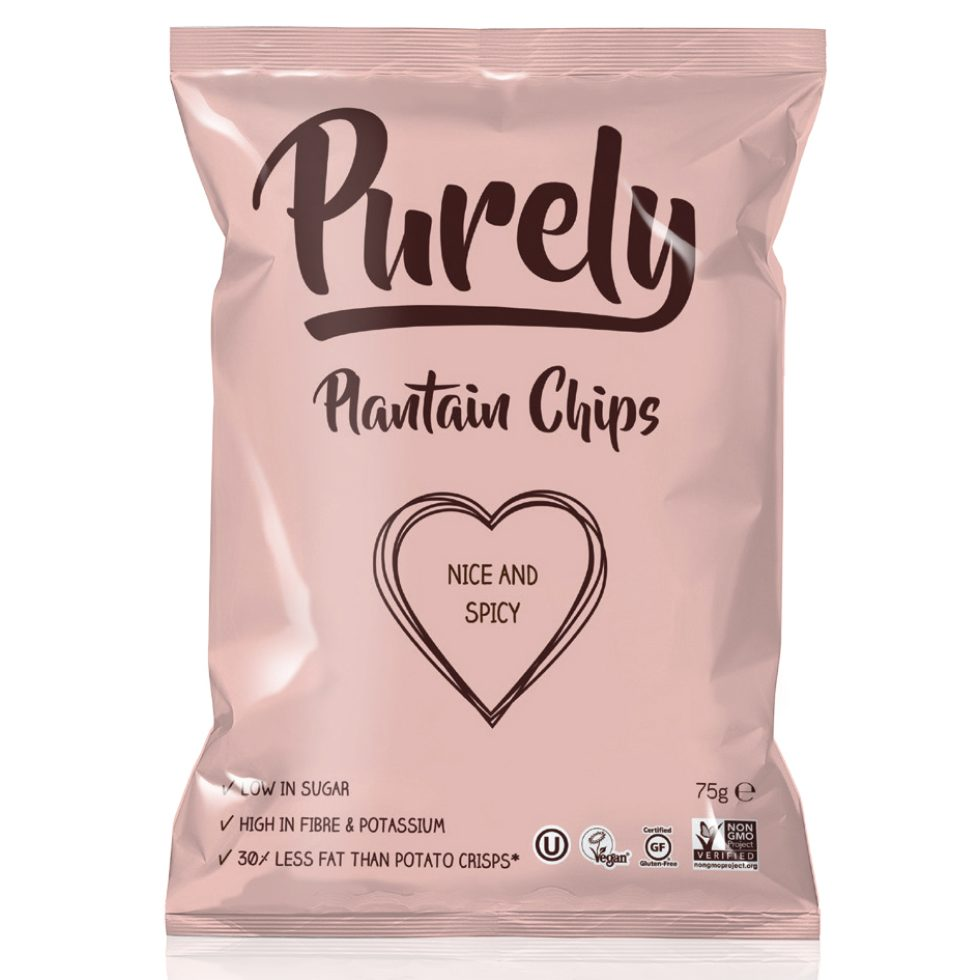 Purely Plantain Chips Nice&Spicy 75gr