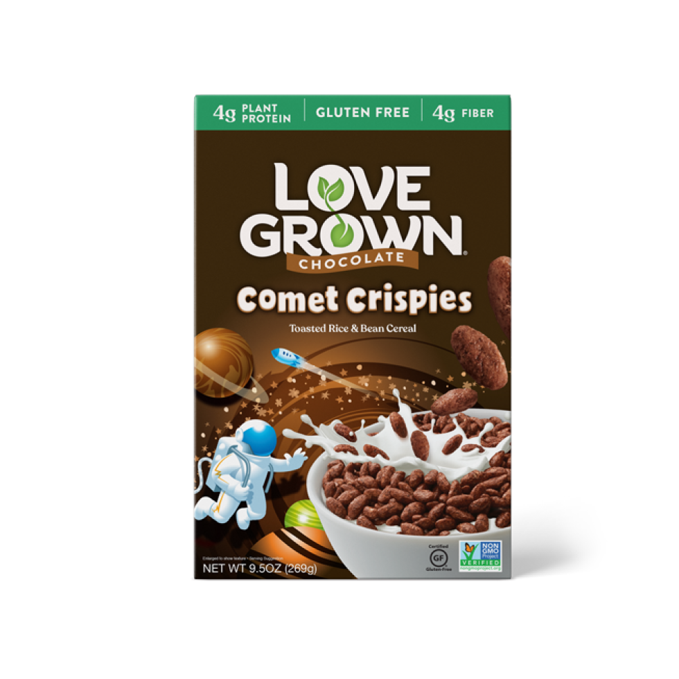 LoveGrown Comet Crispies Súkkulaði Morgunkorn 227gr