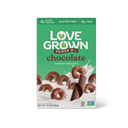 LoveGrown Power O's Súkkulaði Morgunkorn 227gr